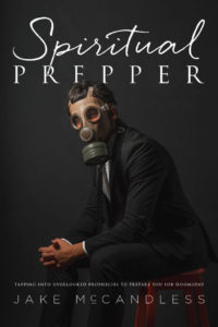 man in suit and gas mask